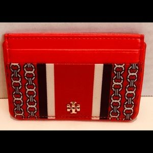 AUTHENTIC TORY BURCH NWOT GEMINI LINK CARD CASE